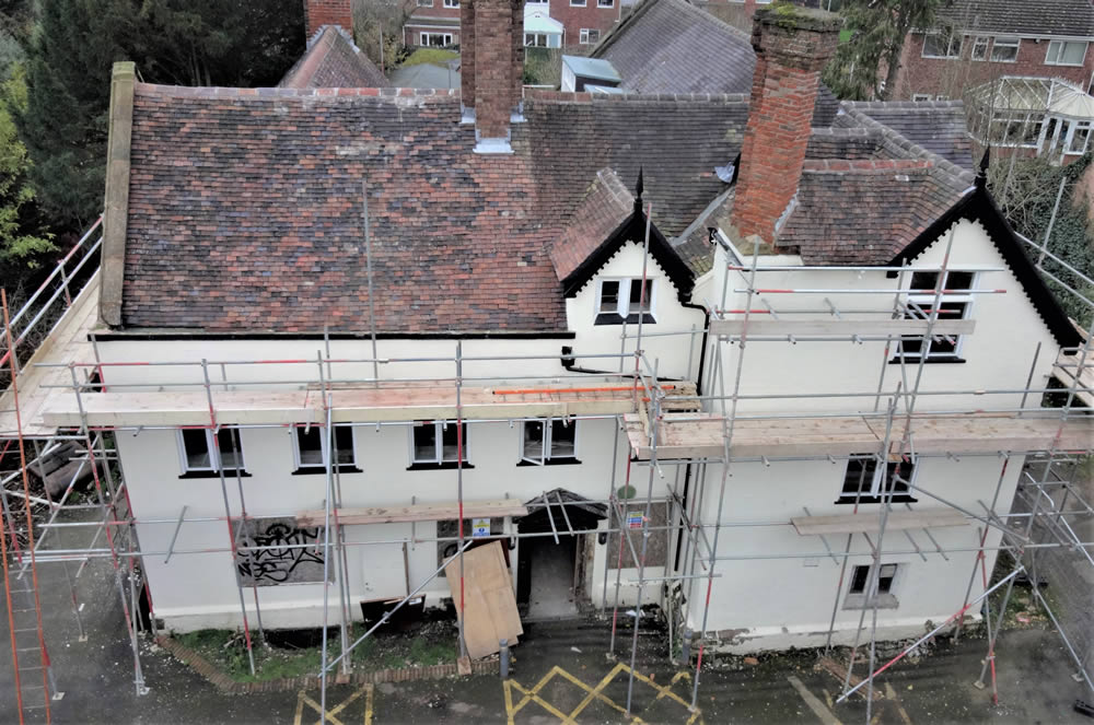 Early Seventeenth Century English House near Telford being Sureyed by Nicholson Price Associates