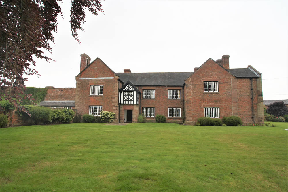 Grade II star listed Crewood Hall in Cheshire